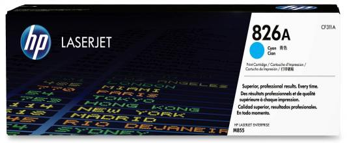Картридж HP CF311A 826A для HP Color LaserJet Enterprise M855 голубой 31500стр принтер hp color laserjet enterprise m652dn