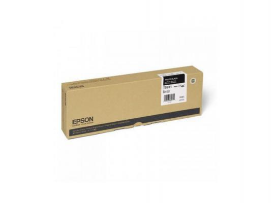 Картридж Epson C13T591100 для Epson Stylus Pro photo black черный картридж epson t009402 для epson st photo 900 1270 1290 color 2 pack