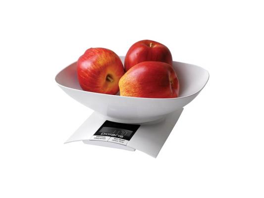 Весы кухонные Polaris PKS0323DL белый
