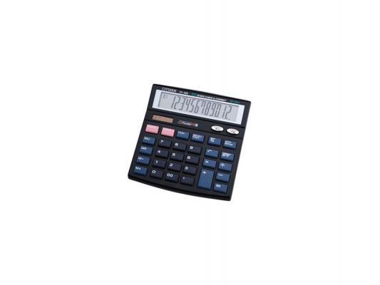 Калькулятор Citizen CT-555N двойное питание 12 разряда настольный проверка коррекция налог черный калькулятор canon as 220rts 12 разряда настольный наклонный дисплей налог бизнес черный