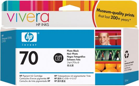 Струйный картридж HP C9449A №70 черный для DJ Z2100/Z3100 картридж hp pigment ink cartridge 70 black z2100 3100 3200 c9449a