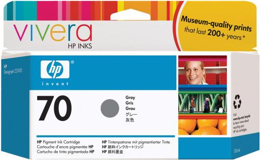 Струйный картридж HP C9450A №70 серый для HP DJ Z2100/Z3100 струйный картридж hp c9390a 70 светло голубой для dj z2100 z3100