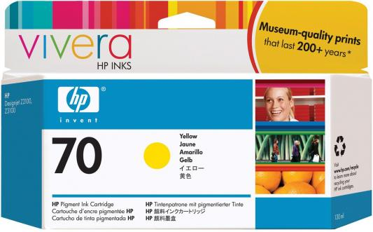 Струйный картридж HP C9454A №70 желтый для HP DJ Z2100/Z3100 картридж hp pigment ink cartridge 70 yellow z2100 3100 3200 c9454a
