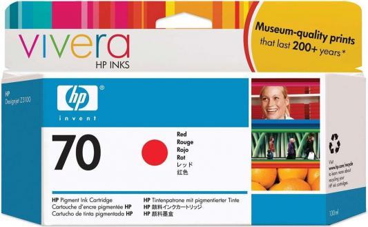 Струйный картридж HP C9456A №70 красный для HP DJ Z2100/Z3100 картридж струйный hp c9391ae n 88xl cyan with vivera ink