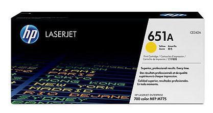 Картридж HP CE342A 651A для LJ 700 Color MFP 775 желтый 16000стр тонер картридж hp ce340a black для lj 700 color mfp 775 ce340a