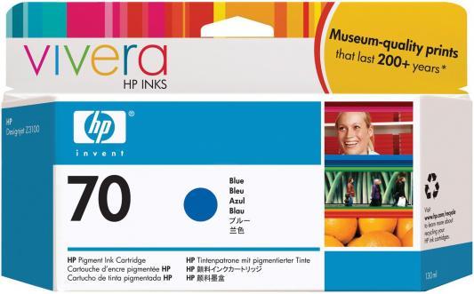 Струйный картридж HP C9458A №70 голубой для HP DJ Z2100/Z3100 струйный картридж hp c9390a 70 светло голубой для dj z2100 z3100