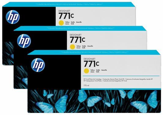 цена на Струйный картридж HP B6Y34A №711С желтый для HP Designjet Z6200 3 шт.
