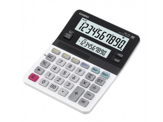 Калькулятор Сasio MV-210-S-EH двойное питание 10 разряда 2 дисплея белый/черный