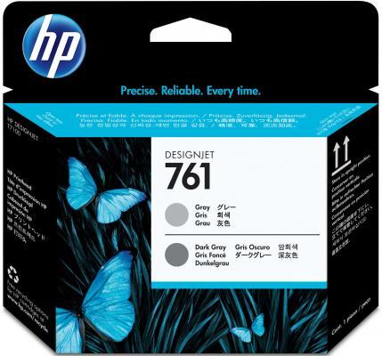 Печатающая головка HP №761 CH647A серый/темно-серый для HP Designjet T7100 печатающая головка hp 761 designjet ch646a