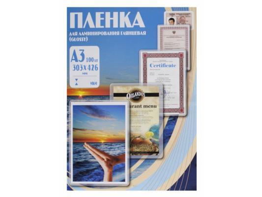 Пленка для ламинирования Office Kit 80 мик А3 100 шт. глянцевая 303х426 (PLP10330)