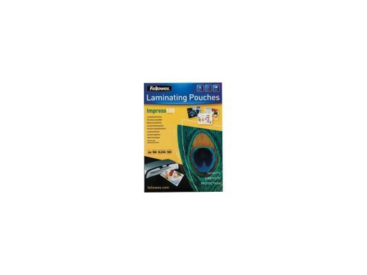 Пленка для ламинирования Fellowes, 100 мкм, A5, 100 шт., глянцевая (FS-53510) fellowes fs 53067 65 х 95 мм пленка для ламинирования 125 мкм 100 шт