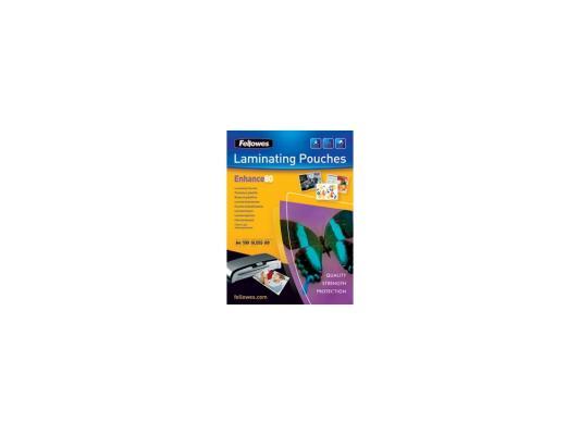 Пленка для ламинирования Fellowes 80 мкм A4 (100шт) глянцевая (FS-5306101) пленка для ламинирования fellowes 80