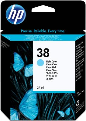 Струйный картридж HP C9418A №38 светло-голубой для HP pro B9180 1270стр. hp c9502ae 56 black струйный картридж