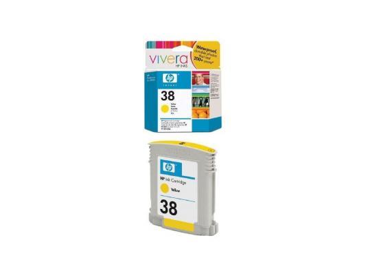 Струйный картридж HP C9417A №38 желтый для HP pro B9180 4700стр. hp c9417a