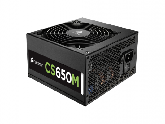 Блок питания Corsair 650W CS Series (CS650M) v.2,4,A.PFC,80 Plus Gold,Fan 14 cm,Modular,Retail