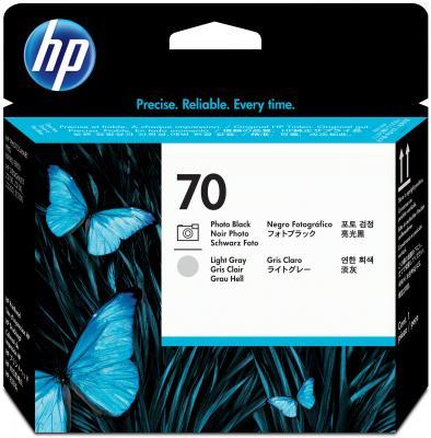Картридж HP C9407A для DesignJet Z2100/Z3100 PS Pro B9100 черный/светло-серый картридж hp pigment ink cartridge 70 black z2100 3100 3200 c9449a