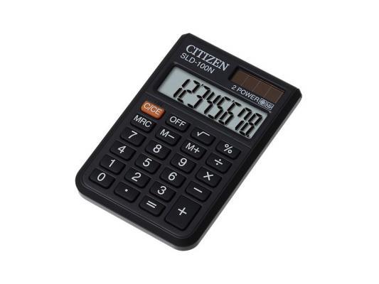 Калькулятор Citizen SLD-100N двойное питание 8 разряда карманный черный