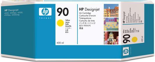 Струйный картридж HP C5065A №90 желтый для HP DesignJet 4000/4500 картридж hp pigment ink cartridge 70 black z2100 3100 3200 c9449a