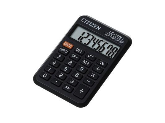 Калькулятор Citizen LC-110N 8 разрядов карманный черный