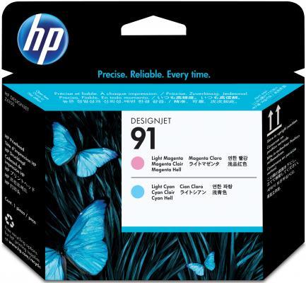 Картридж HP C9462A 91 для Designjet Z6100 светло-пурпурный/светло-голубой картридж hp c9484a для dj z6100 пурпурный 3шт