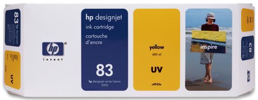 Струйный картридж HP C4943A №83 желтый для HP DesignJet 5500 струйный картридж hp c4942a 83 пурпурный для hp designjet 5000 5500