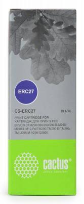 Картридж Cactus CS-ERC27 для Epson ERC 27 черынй кеды shoiberg shoiberg sh003amleo76