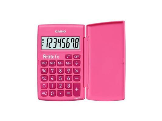 Калькулятор карманный CASIO LC-401LV-PK 8-разрядный розовый калькулятор карманный casio hl 820lv 8 разрядный