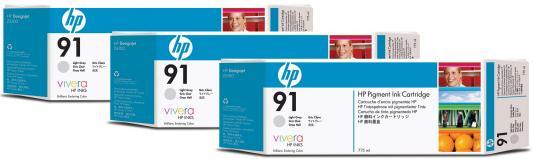 Струйный картридж HP C9482A №91 серый для HP DJ Z6100 3шт. картридж hp c9483a 91 для hp dj z6100 голубой 3шт