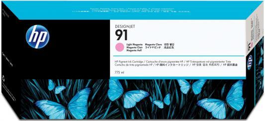 Струйный картридж HP C9471A №91 светло-пурпурный для HP DJ Z6100 картридж hp c9468a 91 для hp dj z6100 пурпурный