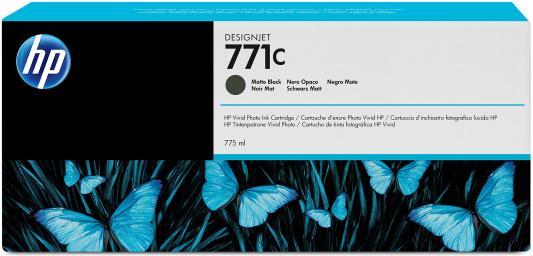 Струйный картридж HP B6Y07A №771С черный матовый для HP Designjet Z6200 картридж струйный hp 56 c6656ae черный для hp pcs 2100 dj 5550 450 ps 7150 7350 7550 520стр