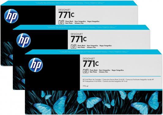 цены Струйный картридж HP B6Y37A №771С черный для HP Designjet Z6200 3шт.