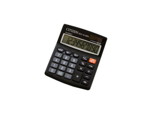 Калькулятор Citizen SDC-810BN 10 разряда бухгалтерский черный citizen aw1231 07a
