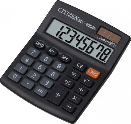 Калькулятор настольный Citizen SDC-805BN 8-разрядный калькулятор citizen sdc 640ii 14 цифр дисплей