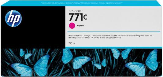 Струйный картридж HP B6Y09A №771С пурпурный для HP Designjet Z6200 hp cn053ae 932xl black струйный картридж