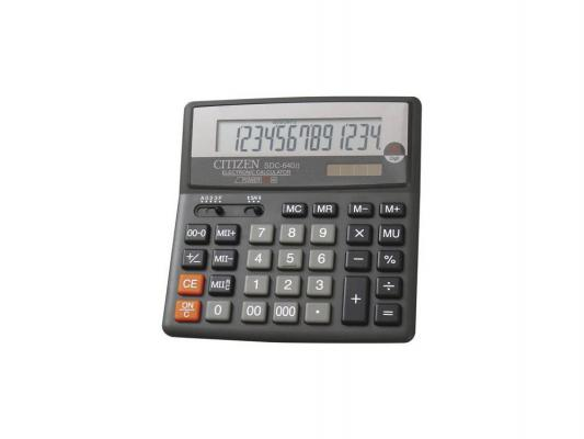 Калькулятор Citizen SDC-640II 14-цифр дисплей