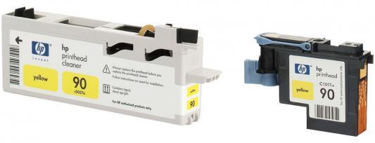 Печатающая головка + чистящая головка HP C5057A №90 желтый для Designjet 4000/4000ps/4500/4500ps головка для дисковода красноярск