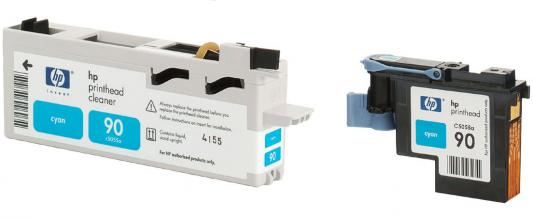 все цены на  Печатающая головка + чистящая головка HP C5055A №90 голубой для Designjet 4000/4000ps/4500/4500ps  онлайн