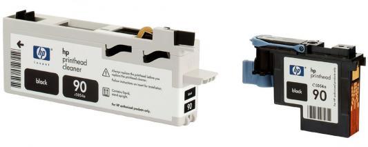 Печатающая головка + чистящая головка HP C5054A №90 черный для Designjet 4000/4000ps/4500/4500ps печатающая головка hp c5054a