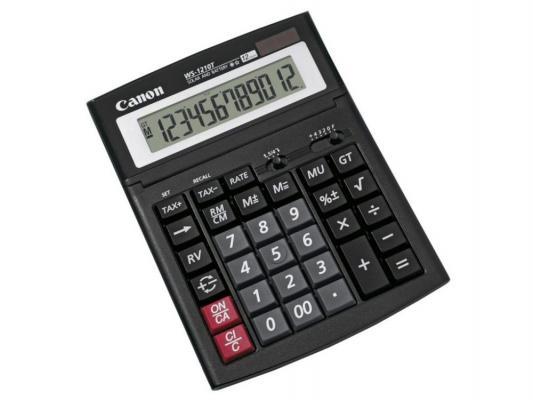 Калькулятор Canon WS-1410T 14 разряда настольный регулируемый наклон дисплея черный