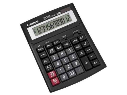 Калькулятор Canon WS-1210T 12 разряда настольный регулируемый наклон дисплея черный калькулятор canon as 220rts