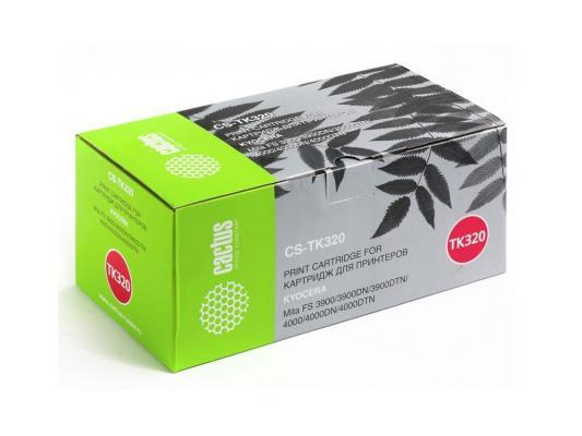 Картридж Cactus CS-TK320 для Kyocera Mita FS 3900/3900DN/3900DTN черный 15000стр