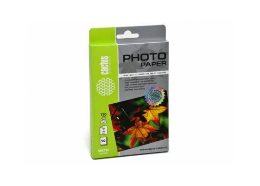 Фотобумага Cactus CS-MA617050 10x15cm/170г/м2/50л. матовая для струйной печати