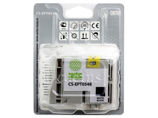 Струйный картридж Cactus CS-EPT0549 голубой для Epson Stylus Photo R800/R1800 450стр.
