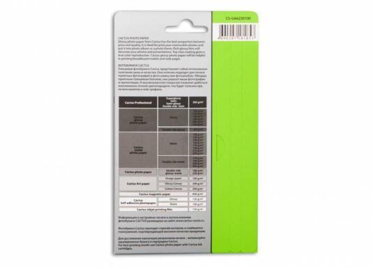 Картинка для Фотобумага Cactus CS-GA6230100 10x15cm/230г/м2/100л. глянцевая для струйной печати