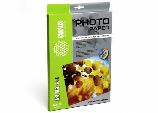 Фотобумага Cactus CS-MA4140100 A4/140г/м2/100л. матовая для струйной печати