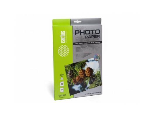 Картинка для Фотобумага Cactus CS-GA323050 глянцевая А3 230 г/м2 50 листов