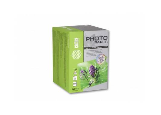 Фотобумага Cactus CS-GA6180500 глянцевая 10x15 180 г/м2 500 листов фотобумага cactus cs ga6180500 глянцевая 10x15 180 г м2 500 листов