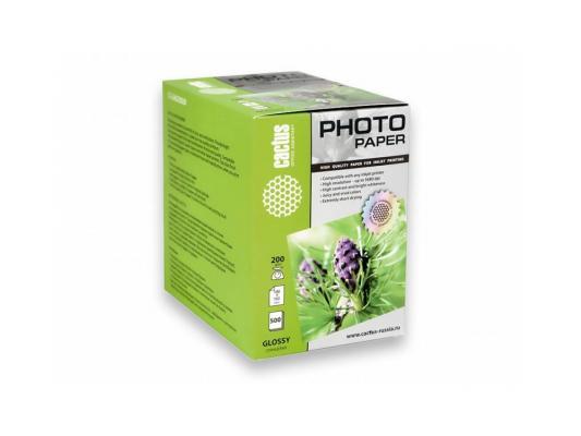 Фотобумага Cactus CS-GA6200500 глянцевая 10x15 200 г/м2 500 листов. фотобумага cactus cs ga6180500 глянцевая 10x15 180 г м2 500 листов