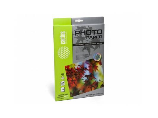 Фотобумага Cactus CS-GMA418020 глянцевая/матовая,двухсторонняя А4 180 г/м2 20 листов фотобумага cactus cs ga6180500 глянцевая 10x15 180 г м2 500 листов