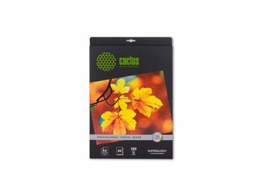 Фотобумага Cactus CS-HGA326020 Professional суперглянцевая А3 260 г/м2 20 листов